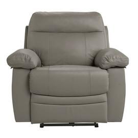 Argos Home Paolo Leather Mix Power Recliner Chair - Grey