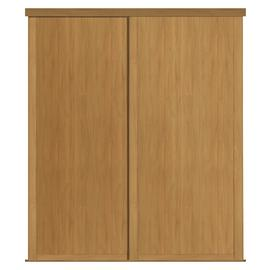 Shaker Sliding Doors and track W1753 Oak Frame Oak Panel