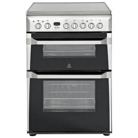 Indesit ID60C2 60cm Double Oven Electric Cooker - S/ Steel