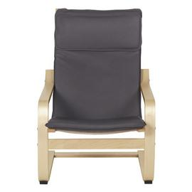 Argos Home Bentwood High Back Chair & Footstool - Charcoal