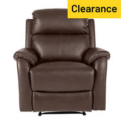 Argos Home Tyler Leather Manual Recliner Chair - Chocolate