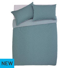 Argos Home Palmhouse Teal Bedding Set - Double