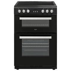 Bush BLC60DBL 60cm Double Oven Electric Cooker - Black