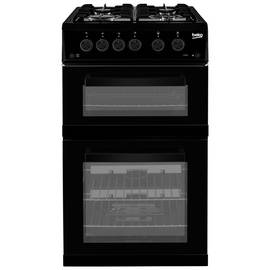 Beko KDG582K 50cm Twin Cavity Gas Cooker - Black