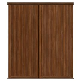 Shaker Sliding Doors and track W1145 Walnut Frame Walnut