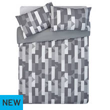 HOME Grey Restoration Bedding Set - Double