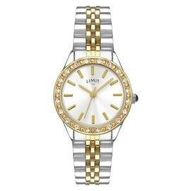 Limit Ladies' Two Tone Stone Set Bracelet Watch
