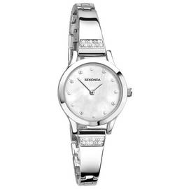 Sekonda Ladies' Mother of Pearl Stone Set Bracelet Watch