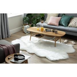 Argos Home Double Sheepskin Faux Fur Shaped Rug