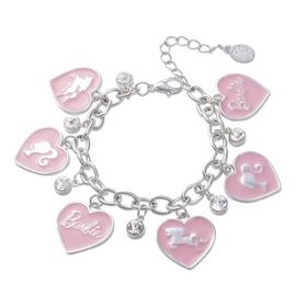 Barbie Kid's Silver Plated Heart and Unicorn Charm Bracelet