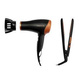Remington Copper Hair Straightener and Dryer Gift Set