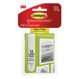 Command Large White Picture Hang Strips - 12 Pack