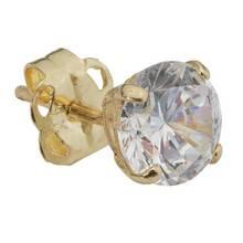 Revere Men's 9ct Yellow Gold Cubic Zirconia Stud Earring