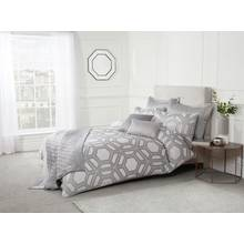 Julian Charles James Silver Duvet Cover - Kingsize