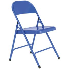 Habitat Macadam Metal Folding Chair - Cobalt
