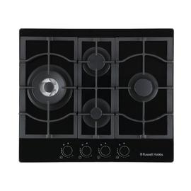 Russell Hobbs RH60GH403B Cast Iron Support Gas Hob - Black