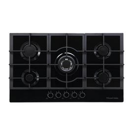Russell Hobbs RH75GH602B Cast Iron Support Gas Hob - Black