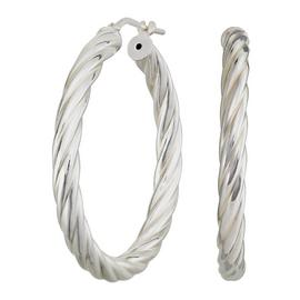 Revere Italian Sterling Silver Twist Hoop Earrings