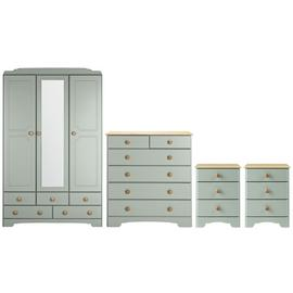 Argos Home Nordic 4 Piece 3 Door Wardrobe Set
