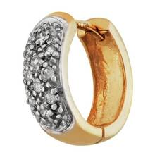 Revere Men's 9ct Yellow Gold Diamond Huggie Single Hoop