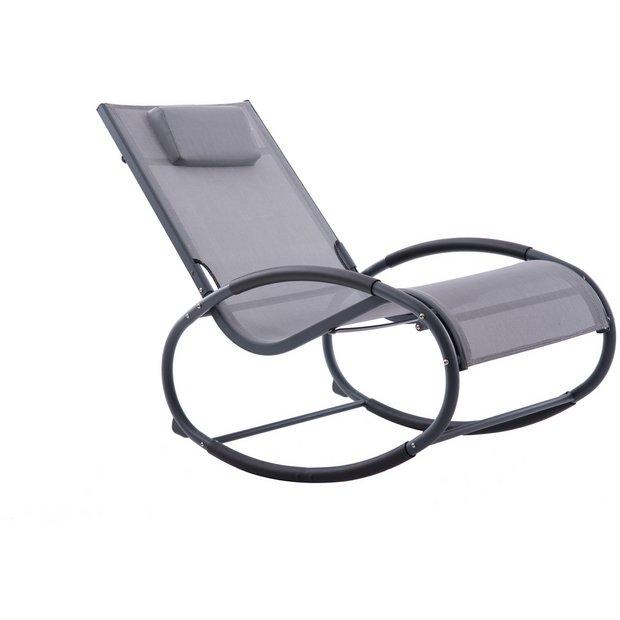 the best attitude 6f4de 9545b Buy Vivere Wave Metal Rocker Chair - Grey on Matte Black | Garden chairs  and sun loungers | Argos