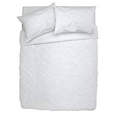 Argos Home Hadley White Pintuck Bedding Set - Superking