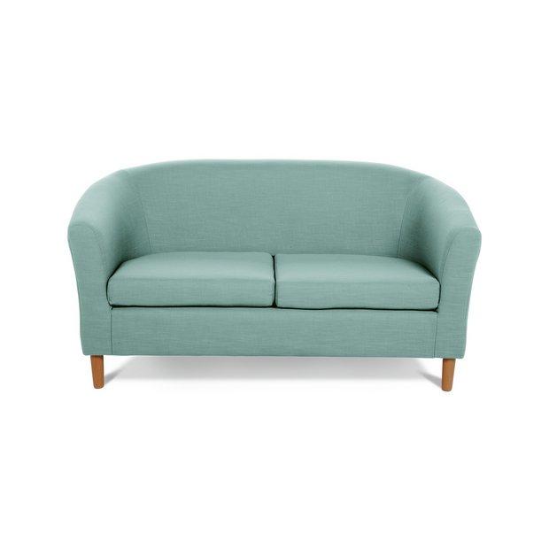 Buy Argos Home 2 Seater Fabric Tub Sofa Duck Egg | Sofas | Argos