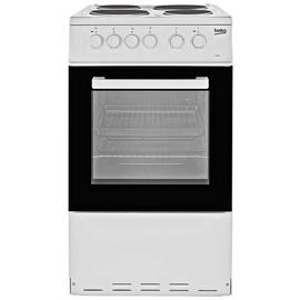 Beko KS530W 50cm Single Oven Electric Cooker - White Best Price, Cheapest Prices