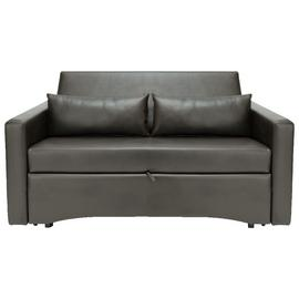 Argos Home Reagan 2 Seater Faux Leather Sofa Bed -Dark Brown