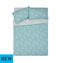 HOME Tribe Duck Egg Geo Bedding Set - Double