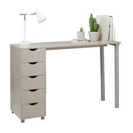 Argos Home 5 Drawer Office Desk - Grey