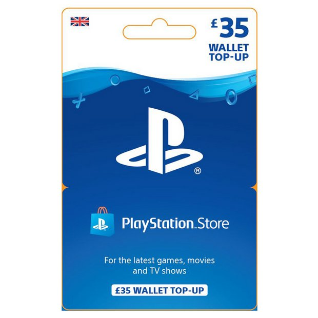 Buy £35 PlayStation Store Wallet Top-Up | Playstation Plus and network  cards | Argos