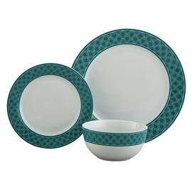 Argos Home Scallop Ceramic 12 Piece Dinner Set - Teal