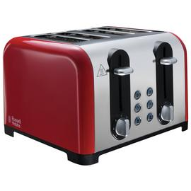 Russell Hobbs 22406 Worcester 4 Slice Toaster - Red