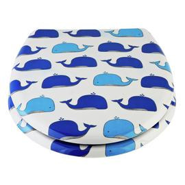 Argos Home Wally the Whale Slow Close Toilet Seat - White