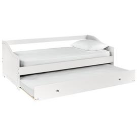 Argos Home Brooklyn White Day Bed with Trundle