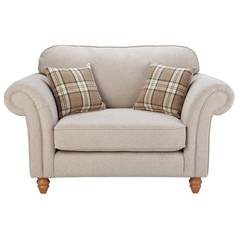 Argos Home New Windsor Fabric Cuddle Chair - Beige
