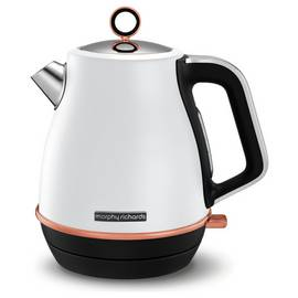 Morphy Richards 104415 Evoke Jug Kettle - White & Rose Gold