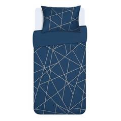 Argos Home Fineline Geometric Bedding Set - Single