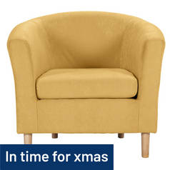 Argos Home Molly Fabric Tub Chair - Yellow