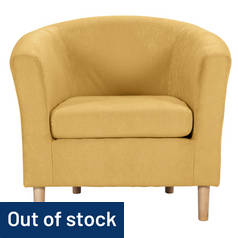 Argos Home Fabric Tub Chair - Yellow