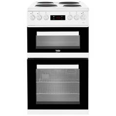 Beko KDV555AW Double Electric Cooker - White