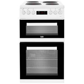 Beko KDV555AW 50cm Double Oven Electric Cooker