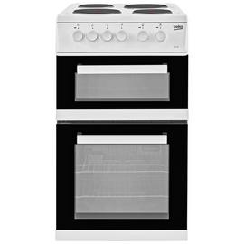 Beko KDC533AW 50cm Twin Cavity Electric Cooker - White Best Price, Cheapest Prices