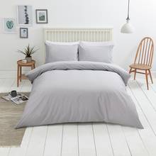 Sainsbury's Home Cool Cotton Soft Grey Bedding Set - Double