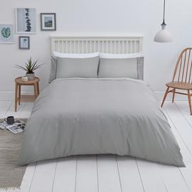 Sainsbury's Home Cotton Grey & White Bedding Set - Kingsize