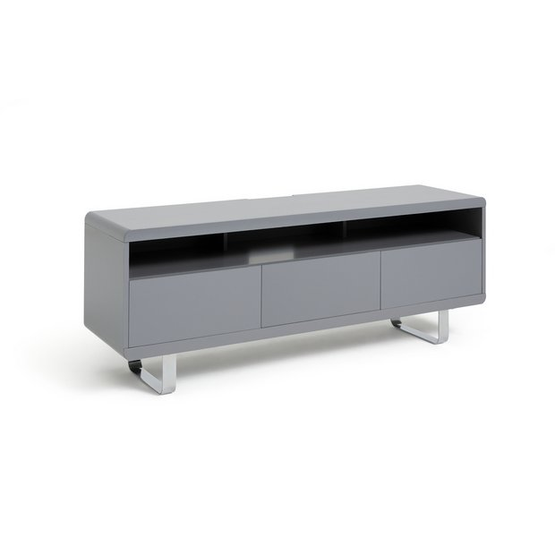 reputable site b2b71 f2512 Buy Argos Home Sleigh 2 Door 1 Drawer TV Unit - Gloss Grey | Entertainment  units and cabinets | Argos