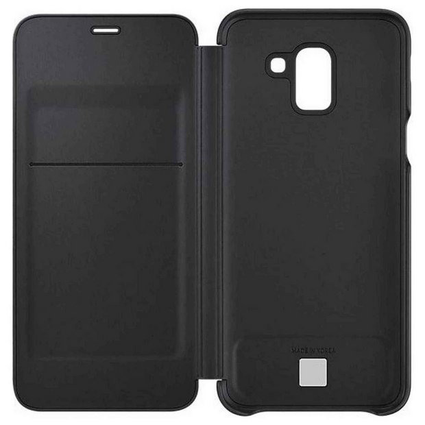 brand new 3d1b4 f4f16 Buy Samsung J6 Mobile Phone Wallet Cover - Black | Mobile phone cases |  Argos