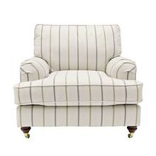 Heart of House Abberton Fabric Chair - Natural Stripe