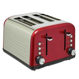 Cookworks 4 Slice Toaster - Red